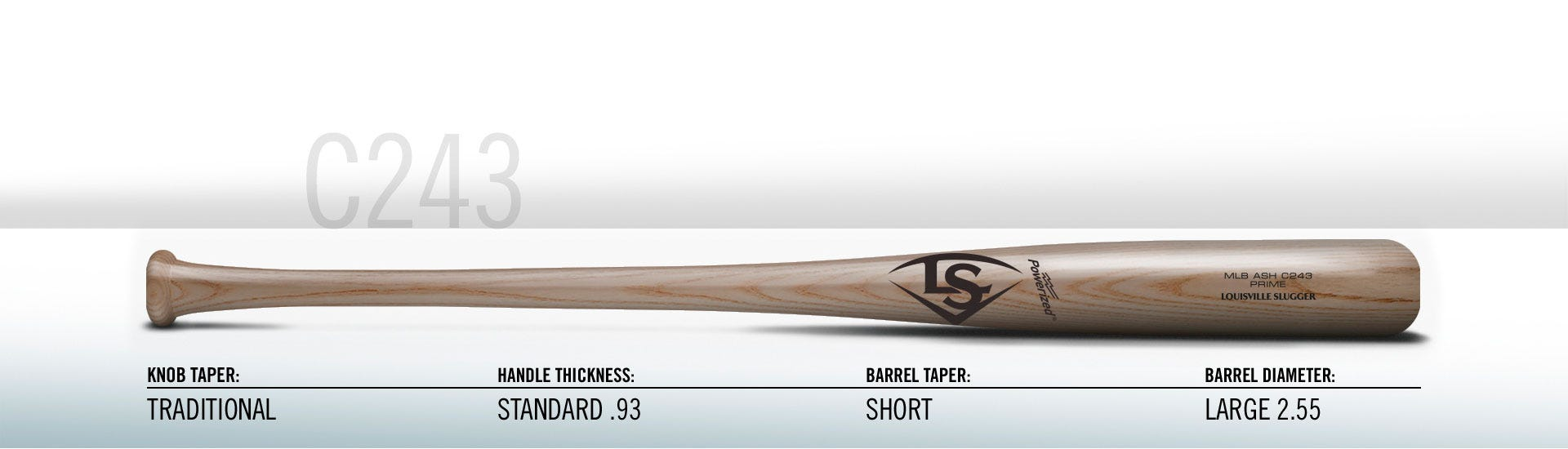 ee389f12a36 Max taper  an aggressive flare to the handle as it joins the knob for a  wider feel in your bottom hand.