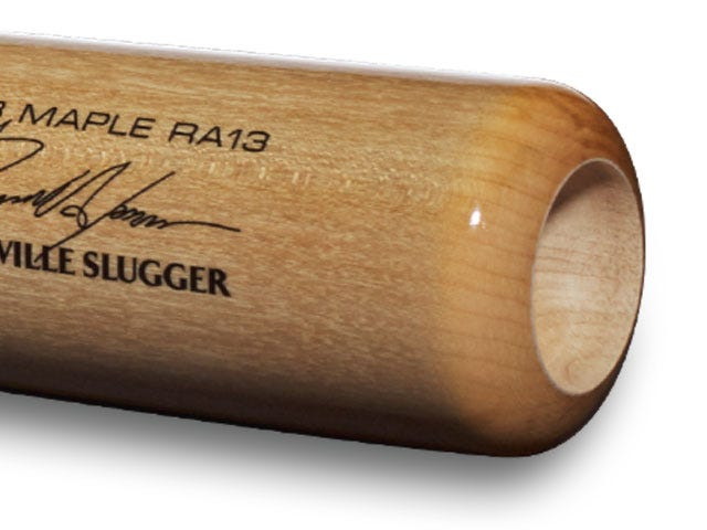 Craftsman style cup on baseball bat