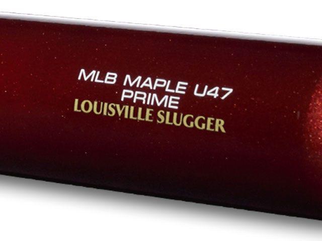 Lousiville Slugger end branding on baseball bat
