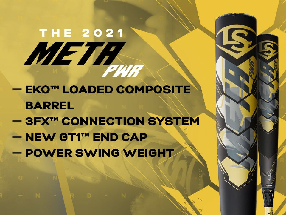 2021 Meta PWR with EKO loaded composite barrel, 3FX connection system, and power swing weight. Click to learn more.
