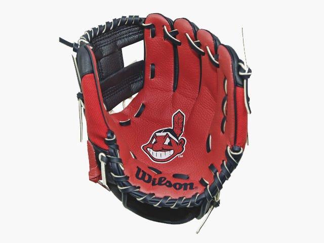 Wilson A200 Cleveland Indians Tee Ball Glove