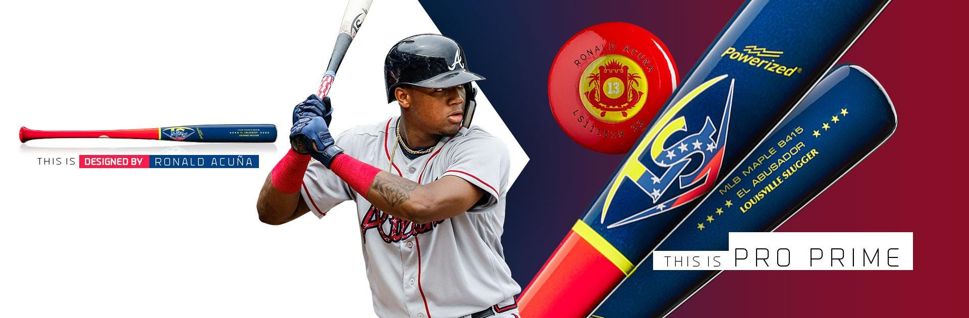 Ronald Acuna Pro Prime Baseball Bat
