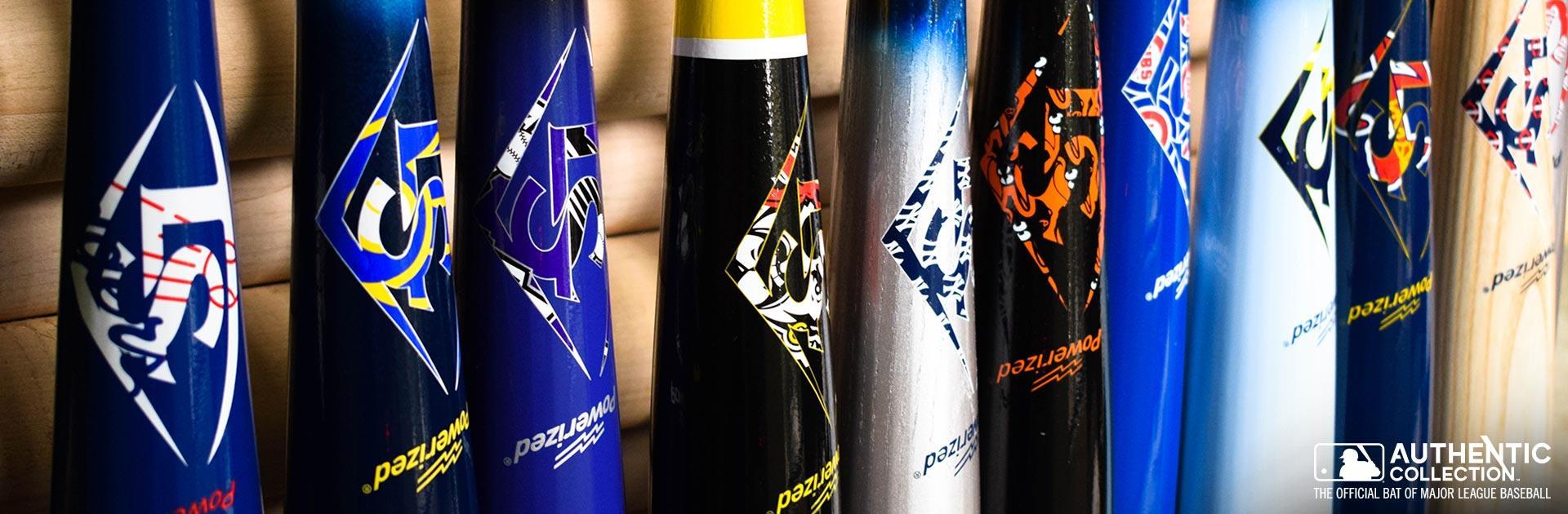 Lineup of Slugger Bats