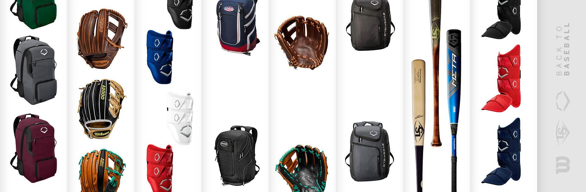Wilson, Louisville Slugger and Evoshield Baseball gear