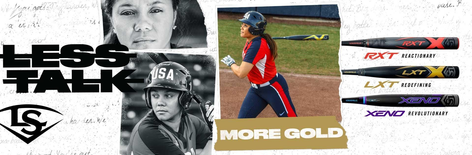 Louisville Slugger 2020 Fastpitch Softball Bats | Less Talk. More Gold.