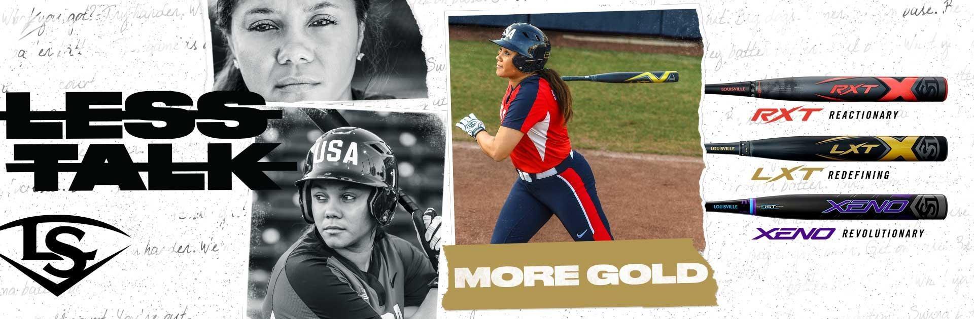 Louisville Slugger 2020 Fastpitch Softball Bats | Less Talk. More Gold.