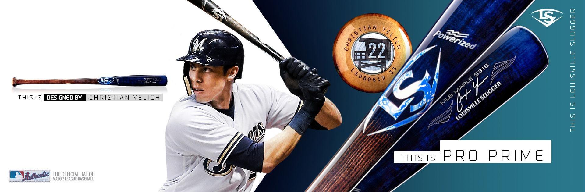 MLB Pro Prime S318 Christian Yelich Game Model Baseball Bat