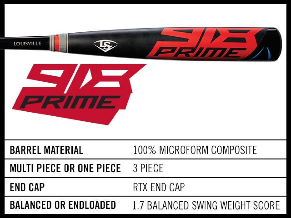 Prime 918 3 Bbcor Baseball Bat Louisville Slugger