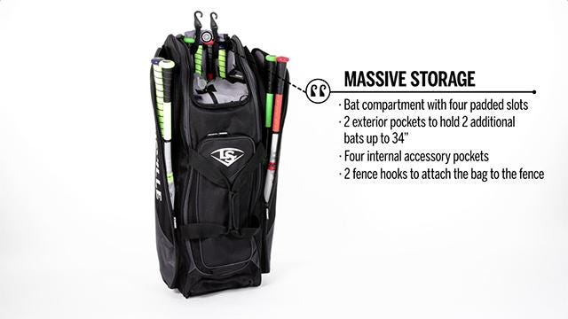 Video Of Louisville Slugger Wheel Bag