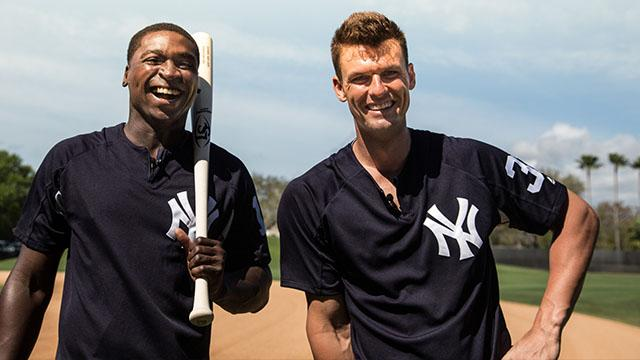 Greg Bird and Didi Gregorius Bat Talk Turning Models | Louisville Slugger Bat Week